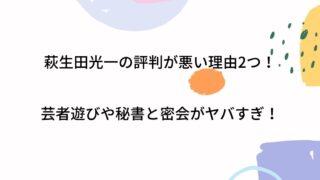 萩生田光一の評判が悪い理由2つ!芸者遊びや秘書と密会がヤバすぎ!